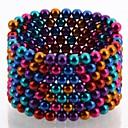 216pcs buckyballs et buckycubes bricolage 5mm magnétiques blocs balles jouets six couleurs différentes