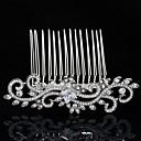 Buy Rhinestone Princess Zircon Tiara Hair Comb Women Wedding Bridesmaid