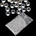 20000PCS 1.5mm의 명확한 둥근 모조 다이아몬드 하드 케이스 네일 아트 장식 아크릴 UV 젤