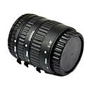 autofokus, makro förlängningsrör för Canon EOS EF EF-S med aluminium bakat svart lack fäste