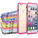 DF Dual Middle Transparent Colorful TPU+PC Soft Back Case for iPhone 6 Plus (Assorted Color)