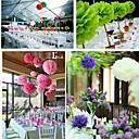 10 pièces 8 pouces décoration poms artisanat de papier de soie de fleur de pom partie (couleurs assorties)