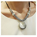 Buy Women's Pendant Necklaces Statement Agate Leather Fashion Simple Style White Jewelry Wedding Party Daily Casual 1pc