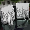 Lureme Fashion Fold Copper Card Candy Box(Silver,Golden)(100 Pcs)