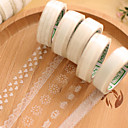 Transparent Lace Decorative Scrapbooking Adhesives Tape(10m Random Pattern 1 PCS)