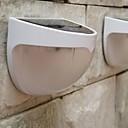 mlsled® 1.2W 6-ledda vit mini vattentät solar powered staket / vägg / trädgårdslampa - vit