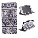 Elephant Pattern PU Leather Cover with Stand for iPhone 6
