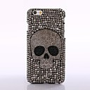 strass estilo punk tampa da caixa do crânio de diamante preto para iphone 6