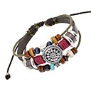 Z&X®  Vintage Punk Beads Combination Handmade Leather Strand Bracelets