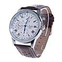 HAIBO 6310-W Men's Round Dial Quartz Roman Numeral Analog Wrist Watch (Brown)