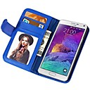 Soft Touch Pattern PU Leather Wallet Cover for Samsung Galaxy Note 4 Assorted Colors