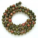 Round Greenstone Beads (1Pc)
