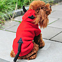 Buy Cat / Dog Costume Hoodie Red Clothes Winter Spring/Fall Angel & Devil Cute Christmas New Year's