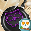 Cartoon Owl Shape Egg Frying Ring, Silicone Material, Random Colors