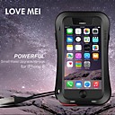 LOVE MEI Small Waist Waterproof Aviation Aluminum Alloy Hard Full Body Case for iPhone 6