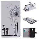Dandelion and the Design of Lovers PU Full Body Case with Stand with Card Slot for Samsung Galaxy Note 4