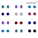 Lureme 12 par per Set Shining Diamond Stud Örhängen