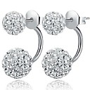 925 Sterling Silver Earrings Micro Diamond Stud Earrings Shambhala Diamond Princess