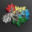 led5mm rouge, vert, bleu et jaune des diodes électroluminescentes 10 chacun, 50pcs totales