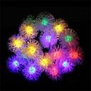 20 leds med furry ball solenergi lamper (assortert farge)
