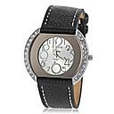 Buy Women's Diamante Case PU Band Quartz Wrist Watch (Assorted Colors) Cool Watches Unique
