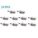 10 pcs E14 12 W 56 SMD 5730 1200 LM Warm White / Cool White T Corn Bulbs AC 220-240 V