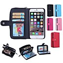 Zipper Wallet Pattern Genuine Leather with Card Slot for iPhone 6(Assorted Colors)
