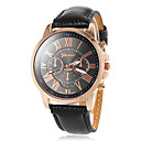 Buy Women's Round Gold Case Roman Number Dial PU Band Analog Quartz Wrist Watch (Assorted Colors) Cool Watches Unique Fashion