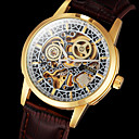 CJABA® Men's Watch Auto-Mechanical Classic Skeleton Hollow Engraving Gold Case