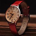 elegante movimiento retro reloj de cuero minimalista reloj japonés circular de alta calidad de las mujeres (colores surtidos)
