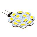 Luci LED Bi-pin 12 SMD 5630 G4 3W 270 LM Bianco caldo / Luce fredda 10 pezzi DC 12 V