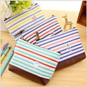 Navy Stripe Canvas Change Purse(Random Color)