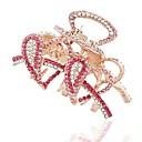Fashion Exquisite Rhinestone Heart Hair Claws Random Color