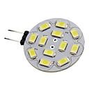 G4 6W 12 SMD 5730 570 LM Warm White / Cool White LED Spotlight DC 12 V