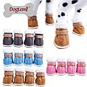 Blue/Brown/Pink/Gray Waterproof/Cosplay Mixed Material Socks & Boots For Dogs