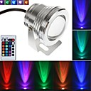 Silver 10W Waterproof Outdoor RGB Light LED Underwater Light + 24Key Remote Control (AC85-265V)