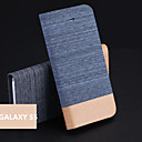 Jeans PU Holder Mobile Phone Case for Samsung Galaxy S5 I9600(Assorted Colors)