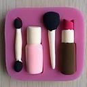 Lipstick Blush Brush Shaped Cake Chocolate Mold