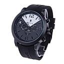 SPEATAK Men's Decorative 3-Dials Quartz Wrist Watch with Calender Display (1 x LR626,Black)