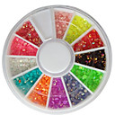 Buy 3MM 12 Colors Glitter AB Acrylic Rhinestones Nail Art Decorations