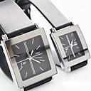 Buy Couple's Square Dial Plastic Strap Simple Quartz Watch (Assorted Colors) Cool Watches Unique