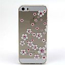 Plum Blossom Pattern TPU Soft Cover for iPhone 5/5S