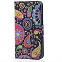 Paisley Flowers Magnetic Leather Cover Case with Stand and Card Slots for Microsoft Lumia 640