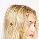 European Style Fashion Gold Stars Turn Spring Clip Bride Headdress Hairpin (Single)