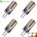 4 x G4 GZ4 MR11 MR16 3W 48x3014SMD 280LM Warm White/Cool White 3500K 6500K Waterproof LED Corn Bulbs AC/DC12-16V