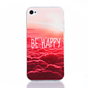 Buy Happy Pattern TPU Soft Cover iPhone 4/4S