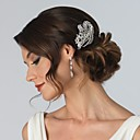 Buy Flashion Charming Wedding Party Bride Flower Austria Crystal Silver Combs Hair Accessories