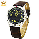 Buy Men's Round Dial Casual Watch Leather Strap Quartz Fashion Wrist (Assorted Colors)