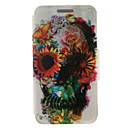 Kinston® Flower Skull Pattern Full Body PU Cover with Stand for Huawei G510/P7/P8/P8 Lite and Huawei Honor 6/6X/6 Plus