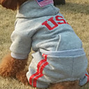 Dog Hoodie / Shirt / T-Shirt Red / Black / Gray Winter American/USA Cosplay